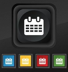 Calendar Date or event reminder icon symbol Set of vector image
