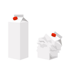 cardboard packaging for milk vector image