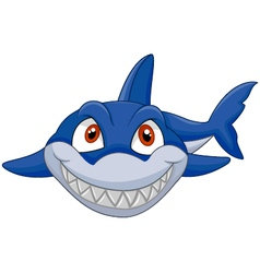 Cartoon shark vector image