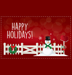 christmas happy holiday vector image