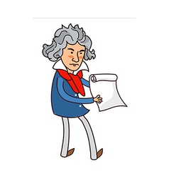 classical man holding paper vector image