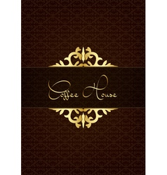 Coffe house menu decorated with floral texture vector