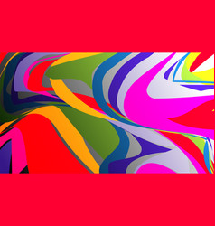 colorful rainbow marbling texture watercolor vector image