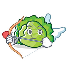Cupid lettuce character cartoon style vector