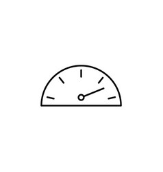 Dash gauge speed outline icon signs and symbols vector