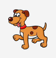 Dog or puppy cartoon character vector