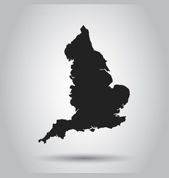 England map black icon on white background vector