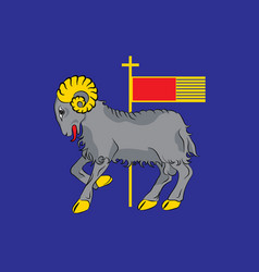 Flag of gotland is a province in sweden vector