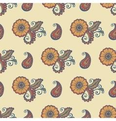Flower paisley pattern vector image