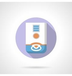 Gas boiler flat color round icon vector