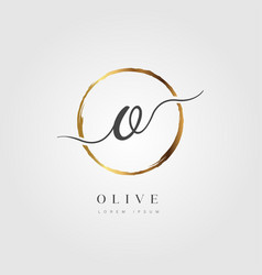 gold elegant initial letter type o vector image