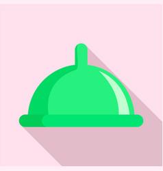 green condom icon flat style vector image