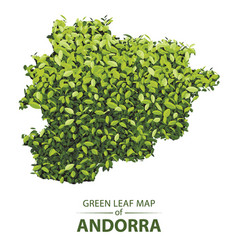 Green leaf map of andorra of a vector