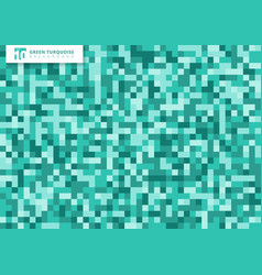 green turquoise mosaic seamless pattern vector image