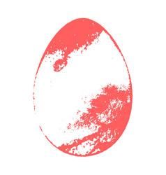 grunge color egg vector image