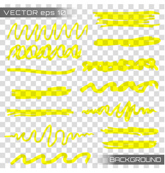 highlight marker vector image
