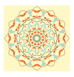 indian floral ornament pattern ethnic print vector image