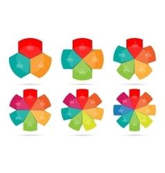 infographics design circle template set vector image