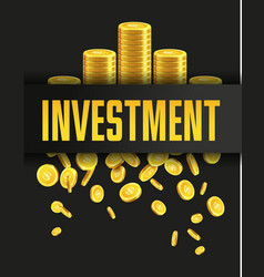 Investment poster or banner design template vector