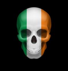 Irish flag skull vector