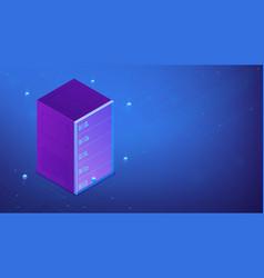 Isometric quantum computer 3d vector