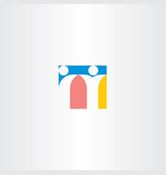 letter n people icon symbol vector image