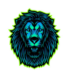 Lion head esport mascot logo vector