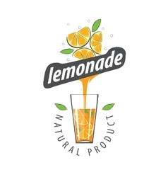 Logo for lemonade vector