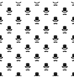 Magic black hat and mustache pattern simple style vector