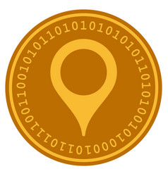map pointer digital coin vector image