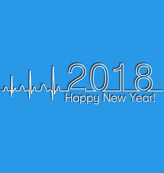 medical christmas banner 2018 happy new year vector image