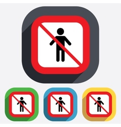 No Human male sign icon Person symbol vector image
