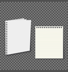 notebook paper with lines isolated on background vector image