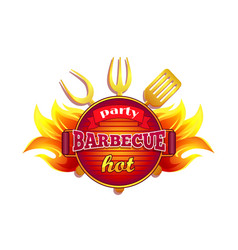 Party barbecue hot bbq icon vector