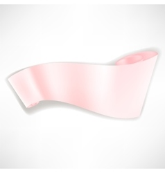 Pink Paper Banner vector image