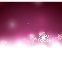 Purple snow Christmas background vector image