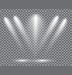 realistic led lights from projector vector image