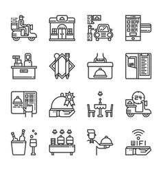 restaurant service icon set vector image