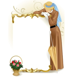 Retro woman vector image vector image