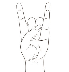 rock festival poster on white background vector image