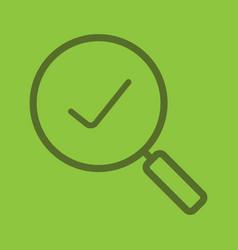 search color linear icon vector image