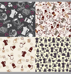 set backgrounds can use for menu coffee shop or vector image