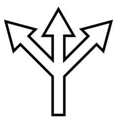 Split Arrow Outline Icon vector