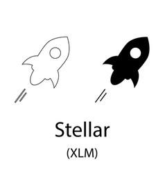stellar black silhouette vector image
