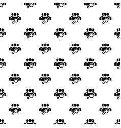 team work gear pattern seamless vector image