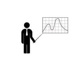 the man standing with a pointer vector image