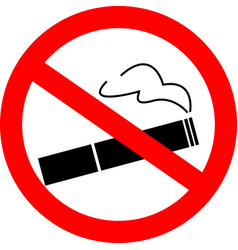 the sign no smoking on white background vector image