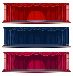 Theater or concert hall stage with curtains vector