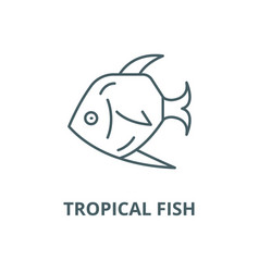 tropical fish line icon linear concept vector image