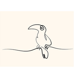 tukan bird symbol vector image